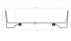 Betoniluukku 600x600 Fe leikkaus 2
