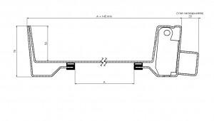 Betoniluukku sarana 450x450 RST leikkaus